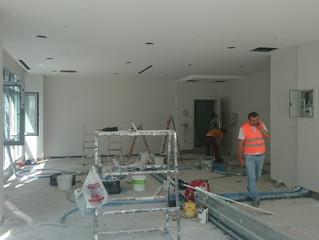 MAHALL Ankara E Blok 51 nolu Ofis alçı boya işlemlerine geçildi