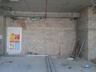 MAHALL Ankara E Blok 25 nolu Ofis şantiyesinde Sprinkler tesisatı uygulamaları tamamlandı.