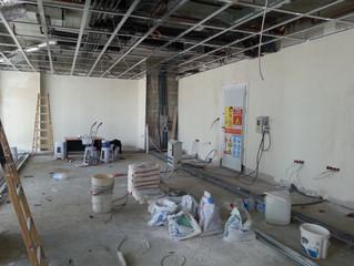 MAHALL Ankara B Blok 15 nolu Ofisi asma tavan alçıpan imalatı başladı.