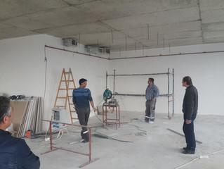 BESA KULE 7. Kat / 24 numaralı Ejder Yılmaz Ofisi duvar ve tavan uygulamalarına başlandı.