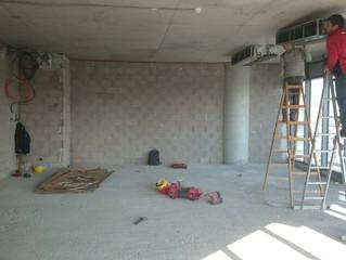 MAIDAN A Blok 123 nolu Ofisi şantiye kurulumu yapıldı.