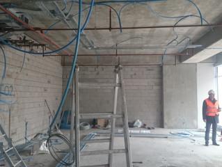 MAHALL Ankara B Blok 02 nolu Ofis şantiyesinde Sprinkler tesisatı uygulamaları tamamlandı.
