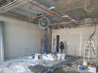MAHALL Ankara E Blok 25 nolu Ofisi duvar alçıpan uygulaması yapılmaya başladı.