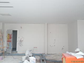 MAHALL Ankara E Blok 25 nolu Ofisi asma tavan imalatı devam ediyor.