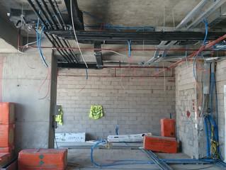 MAHALL Ankara B Blok 02 nolu Ofis şantiyesinde Havalandırma kanalları montajı yapıldı.