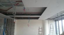 MAIDAN A Blok 123 nolu Ofisi duvar alçı işlemine başlandı.