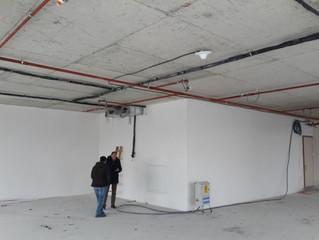 BESA Kule 7. Kat 23 Nolu Ofis şantiyesinde Sprinkler tesisatı uygulamaları tamamlandı.