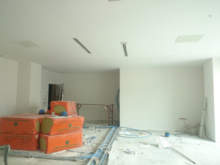 MAHALL Ankara E Blok 63 nolu Ofisi asma tavan alçıpan imalatı devam ediyor.