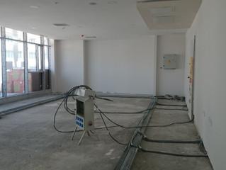 MAHALL Ankara B Blok 15 nolu Ofis şantiyesinde Zemin Temizliği ve Toz Önleyici Boya işlemi yapıldı.