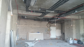 MAHALL Ankara B Blok 11 nolu Ofis şantiyesinde Mekanik altyapısı devam ediyor.