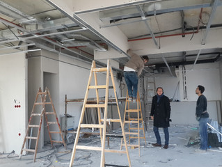 BESA Kule 11. Kat PREFI Ofisi şantiyesinde VRF cihazları montajı tamamlandı.