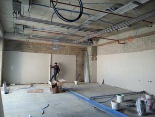 MAHALL Ankara E Blok 63 nolu Ofisi duvar alçıpan uygulaması yapılmaya başladı.