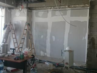 MAHALL Ankara B Blok 15 nolu Ofisi alçıpan uygulaması yapılmaya başladı.