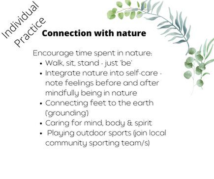 Connection with nature
