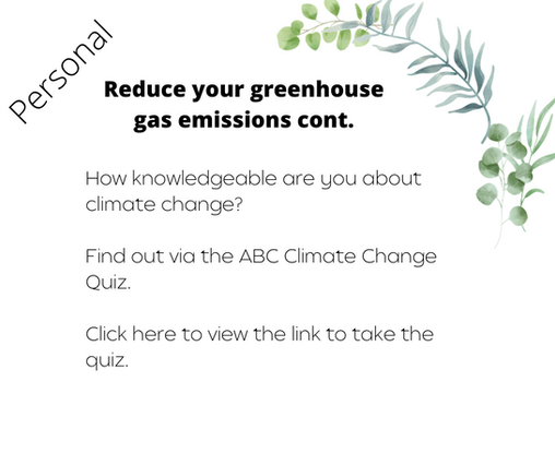 Reduce your greenhouse gas emissions cont.