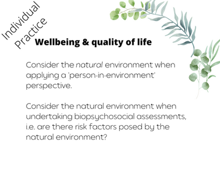 Wellbeing & quality of life