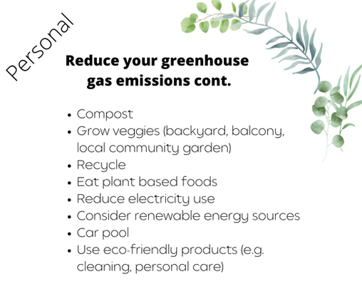 Reduce your greenhouse emissions cont.