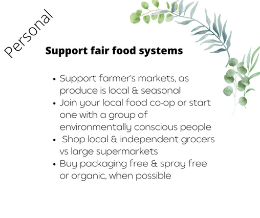 Support fair food systems