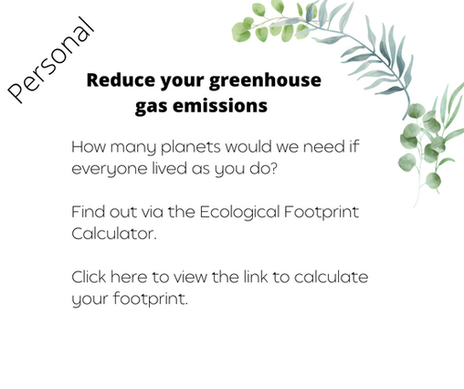 Reduce your greehouse gas emissions
