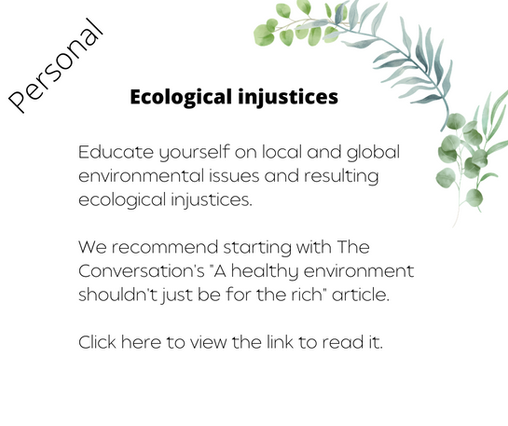Ecological injustices