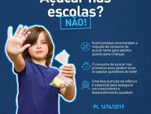 Projeto de lei pretende proibir o consumo de açúcar nas escolas do estado do Rio