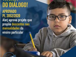 Alerj aprova redução de mensalidades escolares durante a pandemia