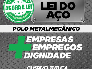 Lei do Polo Metalmecânico é sancionada pelo governador