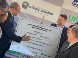 Tutuca participa de lançamento das obras da nova Upa 24 horas em Barra do Piraí