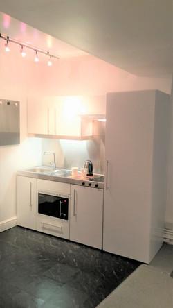 Top of the range Elfin kitchen with larder cupboard