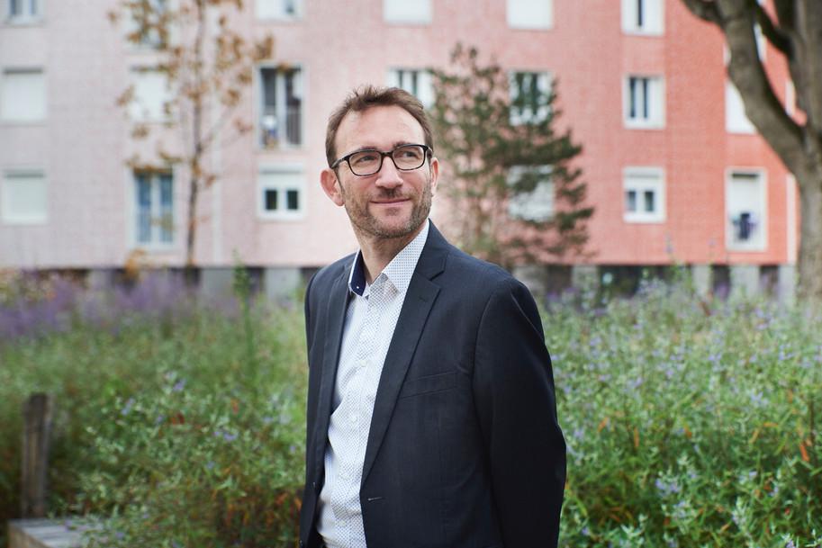 Vincent Loiseau, élu aux quartier des Courtillieres, Ville de Pantin, © L.d'Aboville