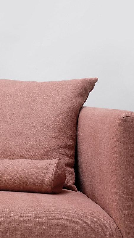 Flame retardant-free natural vegan sofa Shibui