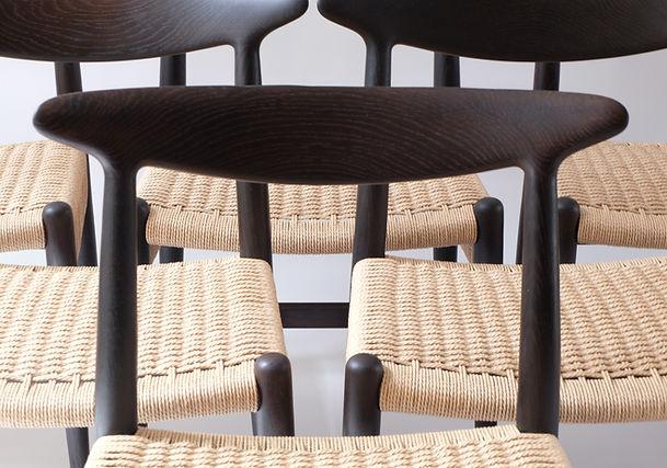 Mid Century Danish W2 Chairs By Hans J.