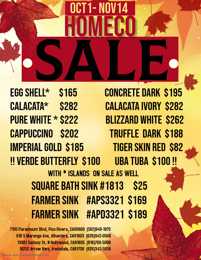 HomeCo 2020 Autumn Sale!