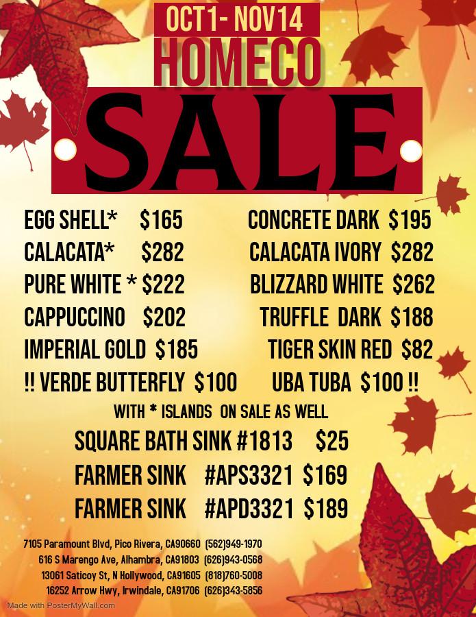 HomeCo 2020 Autumn Sale!