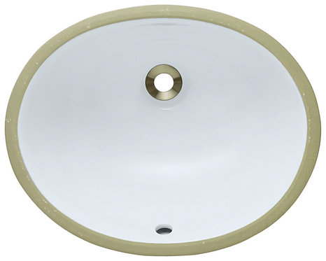 HBS1512 Oval Undermount Bathroom Sink