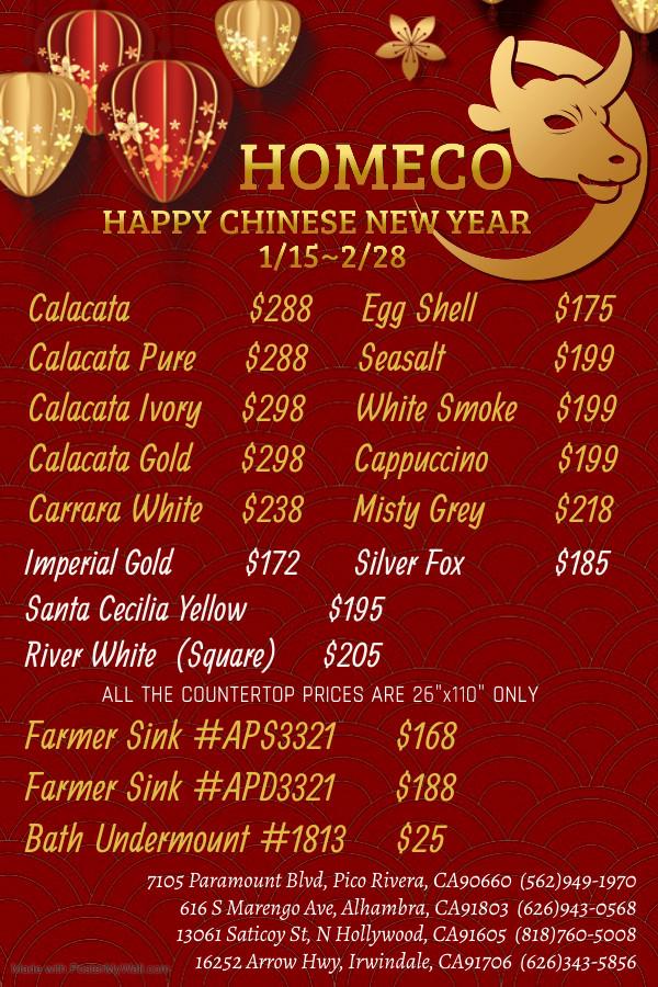 CHINESE LUNAR YEAR SALE!
