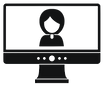 video-conference-icon-simple-style-vecto