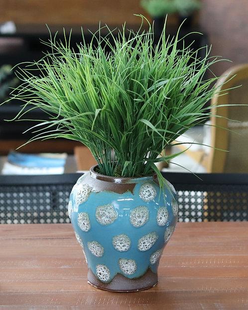 Vaso com planta artificial 972
