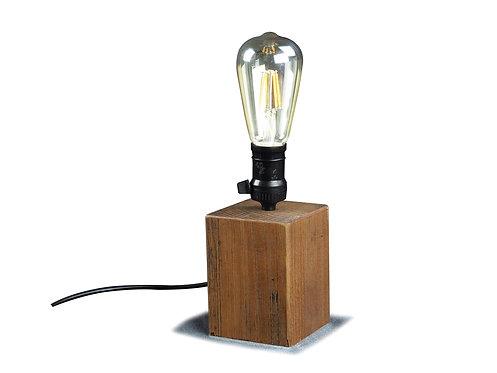 Luminária madeira industrial
