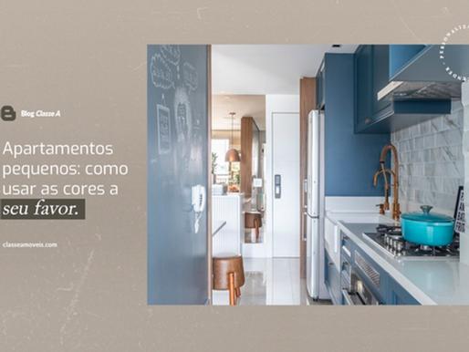 Apartamentos pequenos: como usar as cores a seu favor