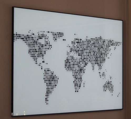 Quadro mapa mundi 10080