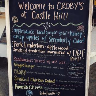 Menu for Castle Hill