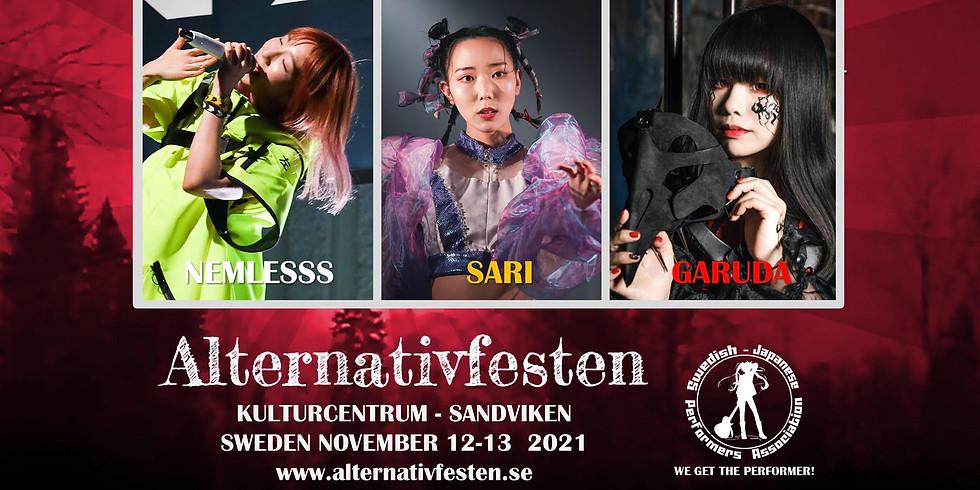 Japanska artister på Alternativfesten