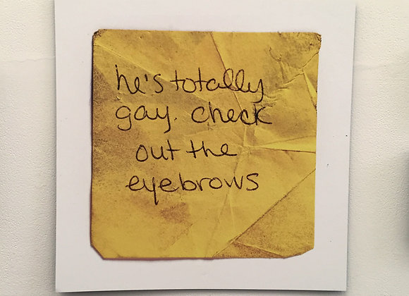 'He's Totally Gay...' poster