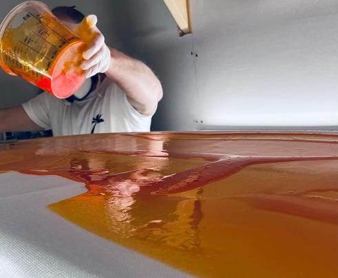 Stunning orange tint!