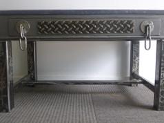 table henri II pieds acier