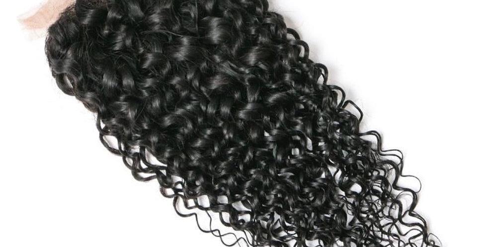 "Brazilian ""B"" Curly Lace 4X4 Closure 16"""