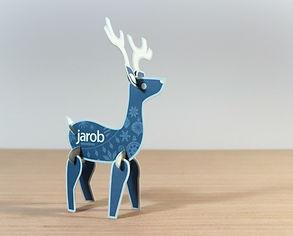 Jarob Christmas Card 3d reindeer