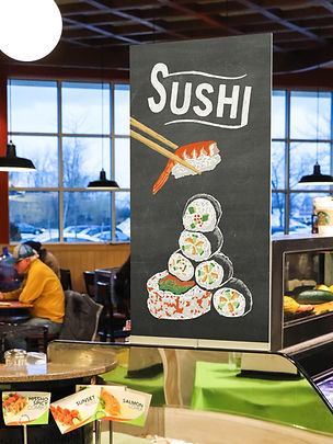 Meijer Sushi Grocery Store Retail Signage