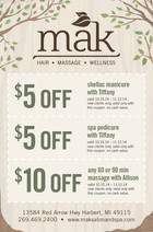 MAK Salon and Spa Coupon Magazine Ad